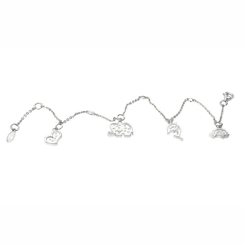 Love Animals Floating Diamonds Charm Bracelet