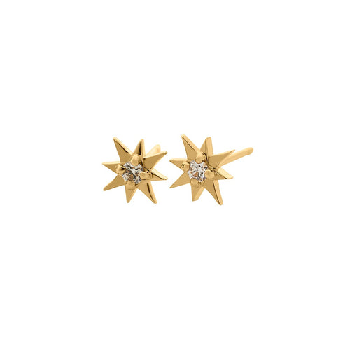 Mini Star Diamond Earrings