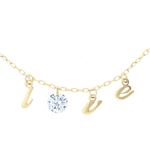 LOVE Letters Naked Diamond Necklace