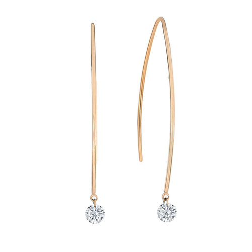 Unique Naked Diamond Long Earrings