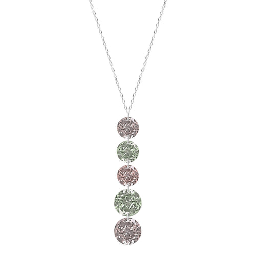 Classic Five Fancy Naked Diamonds Necklace