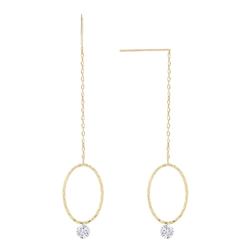 Naked Diamonds Loop Earrings