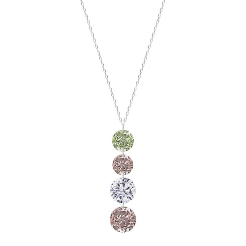 Classic Four Fancy Diamond Necklace