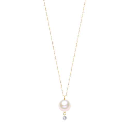 Classic Pearl and Diamond Necklace