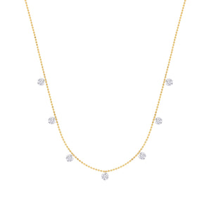 Classic Seven Naked Diamond Necklace