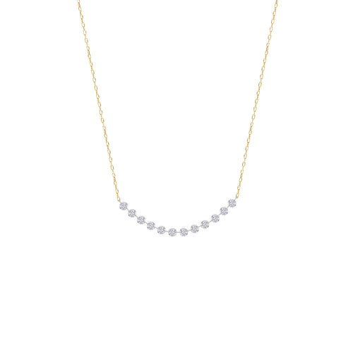 Classic Twelve Naked Diamonds Necklace