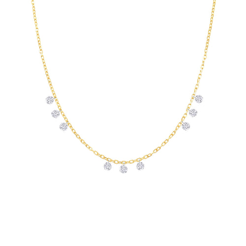 Nine Naked Diamonds Necklace