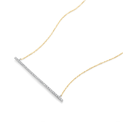 Chic Diamond Bar Necklace featured in Classic Collection