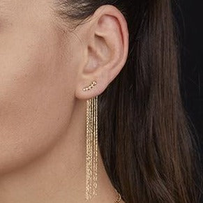 Classic Two Ways Wear Chic Chandelier Diamond Earrings