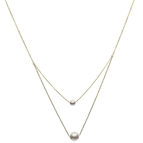 Duo Akoya White Pearls Necklace