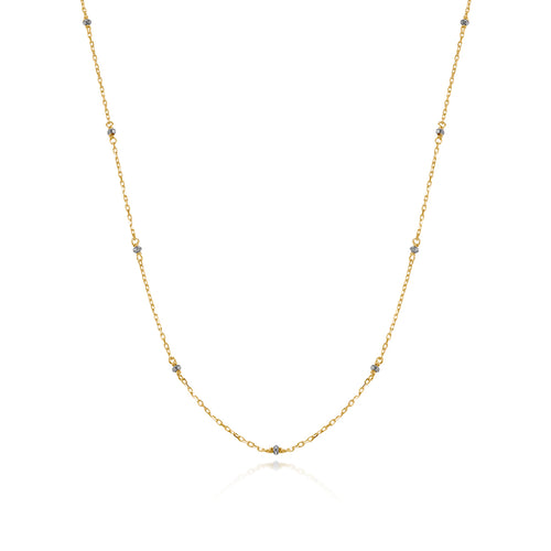 Classic Diamond Beads Long Necklace