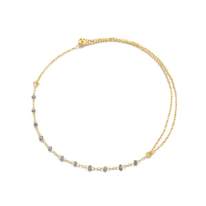 Classic Diamond Beads Gold Adjustable Bracelet