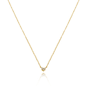 Classic Petite Heart Diamond Necklace.