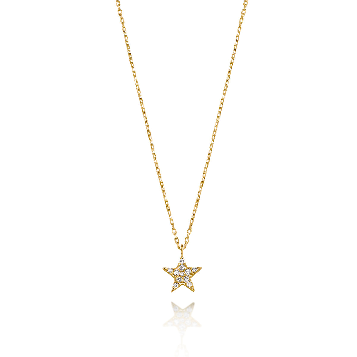 Geometric and Classic Angel Number Diamond Star Necklace