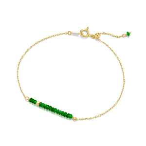 Classic Emerald Bracelet with Adjustable Chain