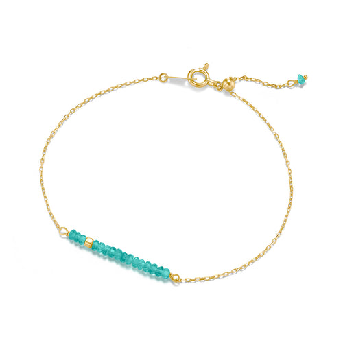 Classic Turquoise Bracelet with Adjustable Chain