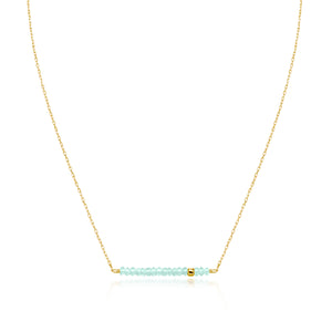 Classic Apatite Bracelet with Adjustable Chain