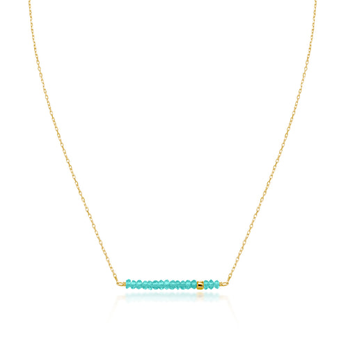Classic Turquoise Necklace with Adjustable Chain