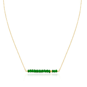 Classic Emerald Necklace with Adjustable Chain