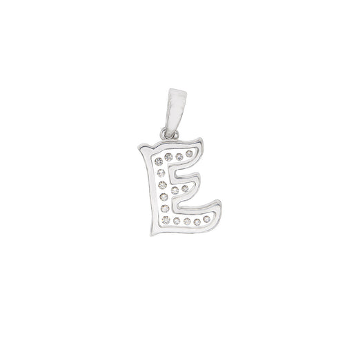 Floating Diamonds Charms Alphabet Letters Pendant