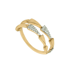 Classic Chandelier Dangling Trinity Triangle Diamond Ring Mix Gold Colours