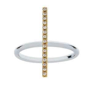 Chic Diamond Bar Ring