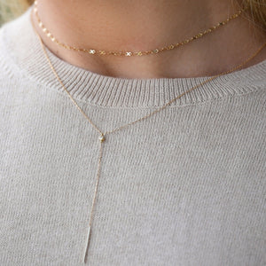 Infinity Gold Choker with Adjustable Chain