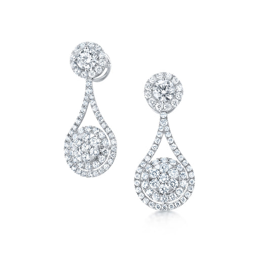 Classic Two Way Wear Diamond Earrings