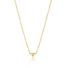 Load image into Gallery viewer, Classic Petite Diamond Bezel Setting Necklace