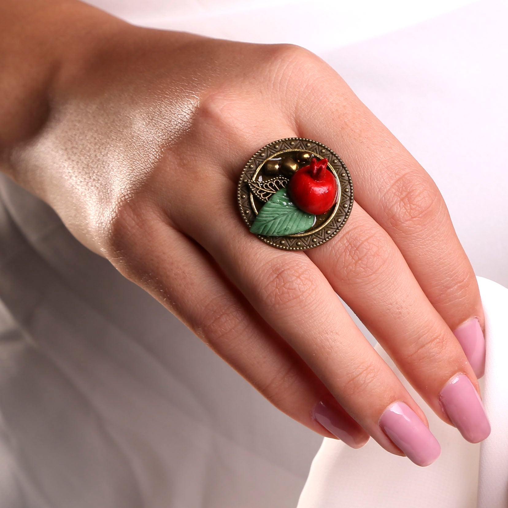 "Pomegranate ""Anar"" Ring"