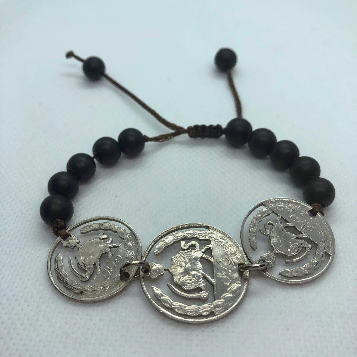 Trio Rial Coins Cut Out Bracelet