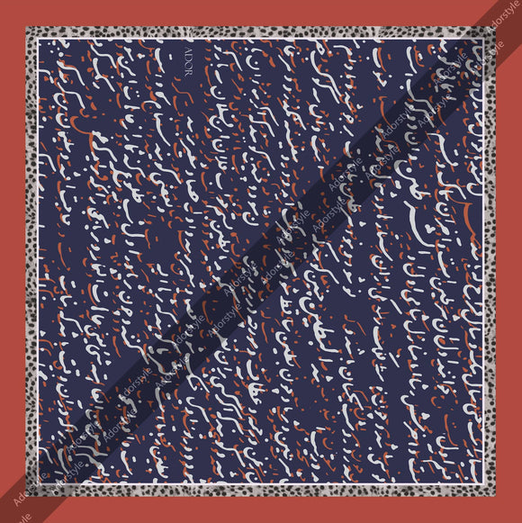 Faded Calligraphy Pocket Square