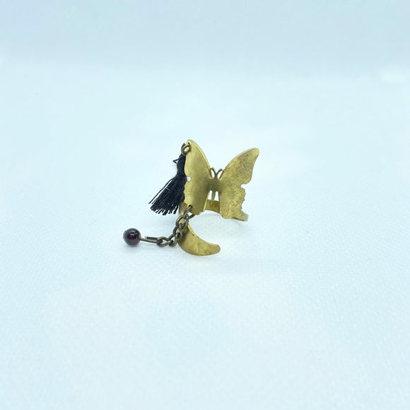 Butterfly Ring with Tassel