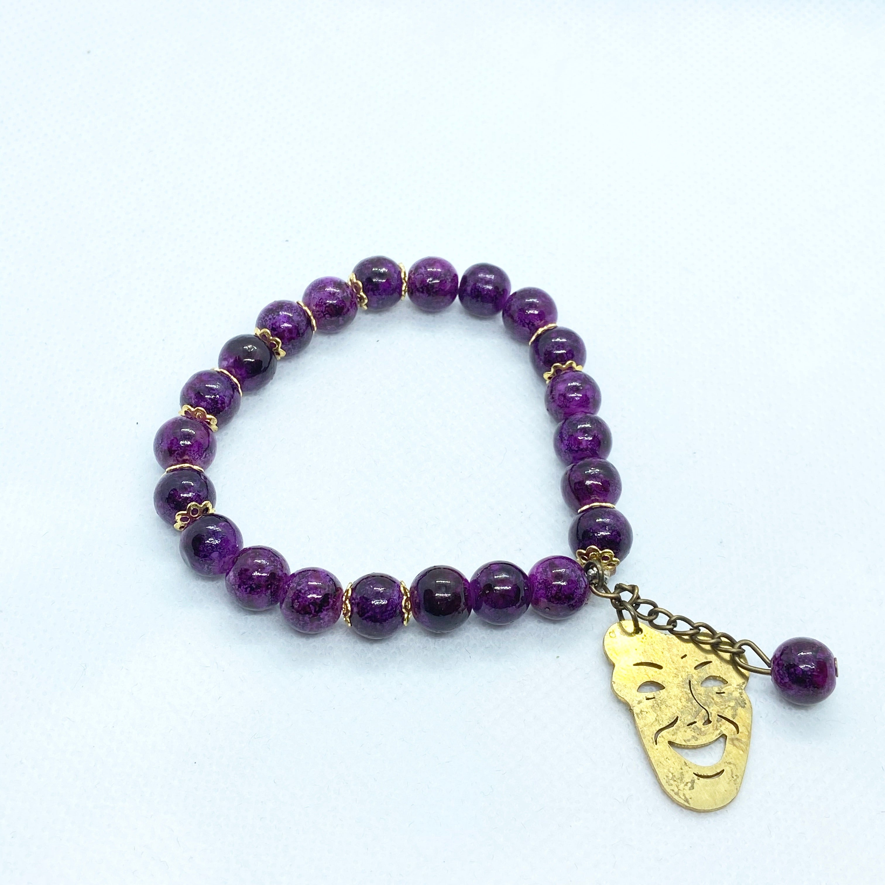 Mask Bracelet with Beads