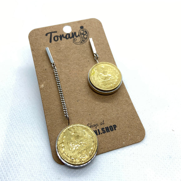50 Dinar Coin Earrings double sided