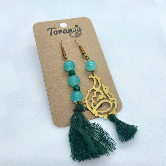 Tassel and Brass Earring