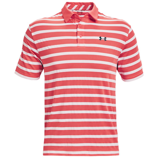 Under Armour Playoff 2.0 Back Nine Stripe Golf Polo - Red