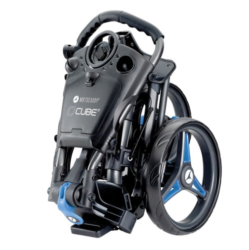 Motocaddy Cube 3 Wheel Trolley 2020 - Graphite/Blue