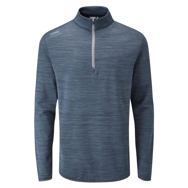 Ping Edison 1/2 Zip Golf Sweater - Oxford Blue