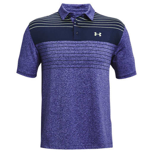 Under Armour Playoff 2.0 Press Stripe Polo Shirt - Academy/Summer Lime