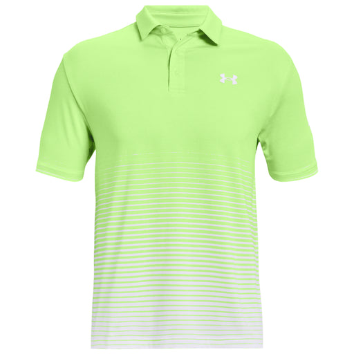 Under Armour Playoff 2.0 Up and Down Stripe Golf Polo - Green/White