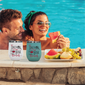 Wine and Flip Flops - Outdoor Wine Tumbler