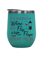 Load image into Gallery viewer, Wine and Flip Flops - Outdoor Wine Tumbler