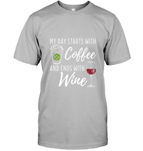 Load image into Gallery viewer, My Day Starts with Coffee and Ends with Wine