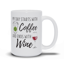 Load image into Gallery viewer, My Day Starts With Coffee - Classic White Mug