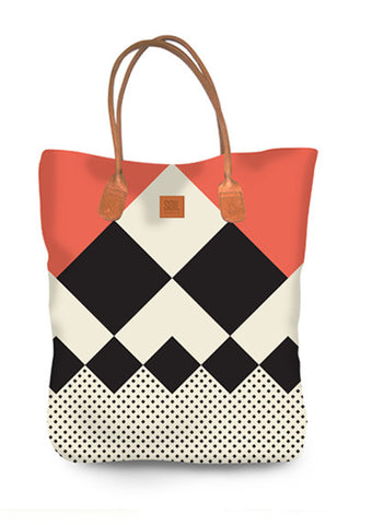 Canvass tote bag - Chequered