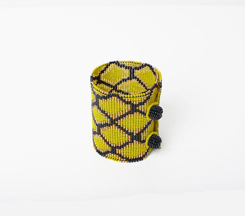 Beaded bracelet Yellow Snake