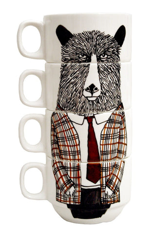 Coffee Cup Set Mr Bear