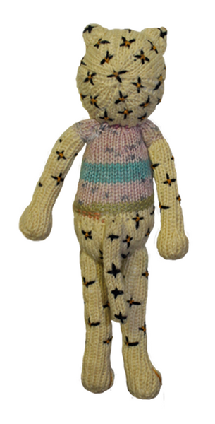 Knitted toy leopard