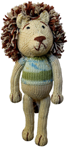 Knitted toy lion